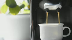 Fresh brewed coffee Stock Footage