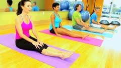 Multi Ethnic Fitness Class Stock Footage