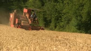 Stock Video Footage of INDS-0003 Combine harvesting wheat 2