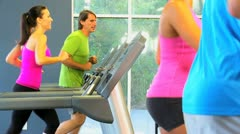 Gym Members Working Out Stock Footage