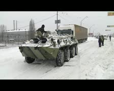 Tank pulls the car Stock Footage
