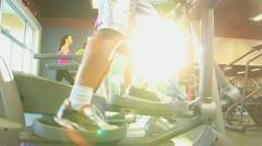 Gym Members Keeping Fit Stock Footage