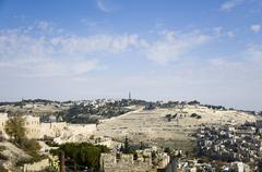 cityview of jerusalem - stock photo