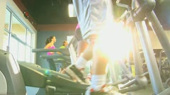 Keeping Fit on Modern Gym Equipment - stock footage
