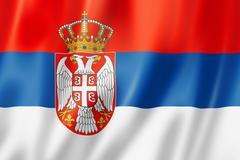 serbian flag - stock illustration