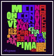 Arizona Map - stock illustration