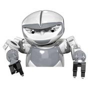 Robot Top View Promotion - stock illustration