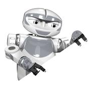 Robot Corner View Promotion Stock Illustration