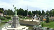 Stock Video Footage of Minimundus miniature park, Statue of Liberty