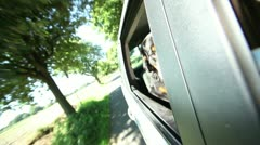Bernese Mountain Dog looking out of car window Stock Footage
