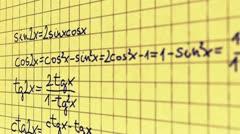 Science Mathematics 10 720 Stock Footage