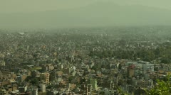 Closer pan of Kathmandu Stock Footage