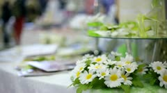 Decorative flower table Stock Footage