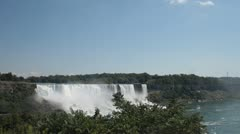 Stock Video Footage of Niagara Falls as Seen from Canada