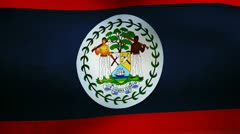Belize country flag Stock Footage