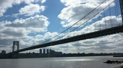 Driving Along George Washington Bridge New York City Stock Video - stock footage
