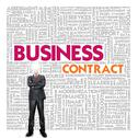 Business word cloud for business and finance concept, business contract Stock Illustration