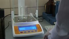 Weighing medicines - stock footage