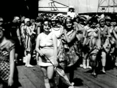BATHING BEAUTY CONTEST AT CONEY ISLAND CIRCA 1910 2 Stock Footage
