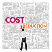Business word cloud for business and finance concept, cost reduction Stock Illustration