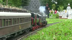 Train in Minimundus miniature park Stock Footage