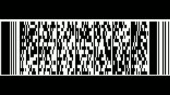 Animation of QR Bar Codes Stock Footage