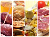 Stock Photo of spanish tapas and dishes collage