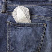 panty liner and jeans - stock photo