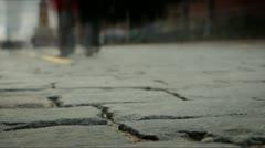 Red Square сobblestones - stock footage