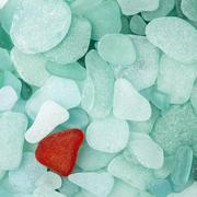 Sea glass background Stock Photos