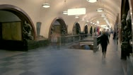 Stock Video Footage of Moscow metro station (with applied effect)