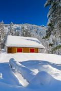Colorful chalet Stock Photos