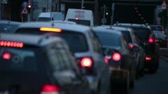 Rush Hour Traffic in Düsseldorf Germany Stock Footage