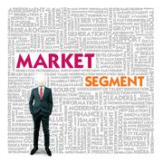 Business word cloud for business and finance concept, market segment Stock Illustration