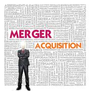 Business word cloud for business and finance concept, merger Stock Illustration