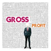 Business word cloud for business and finance concept, gross profit Stock Illustration