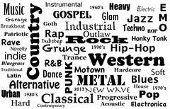 Music Genres Stock Illustration