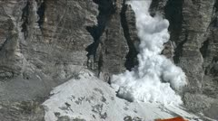 Avalanche at basecamp Stock Footage