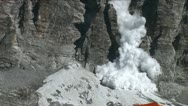 Stock Video Footage of Avalanche at basecamp