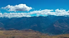Sacred Valley lookout over the Andes Stock Footage