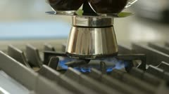 Coffee pot makes espressos Stock Footage