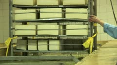 Plant for the production of cheese. Stock Footage