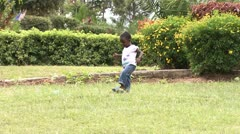 Orphanage Mission in action - Child walk - Kenya Stock Footage