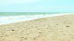 Ocean Waves Sand Beach No People Stock Footage