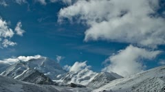 Clouds move above Cho Oyu Stock Footage