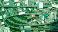 Stock Video Footage of Aerial view - Traffic Bangkok - time-lapse - loop