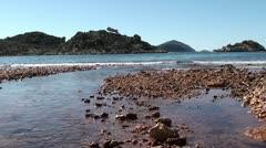 Stream disembogue into sea Stock Footage