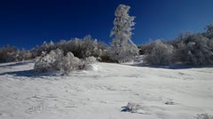 Winter in the mountains. - stock footage