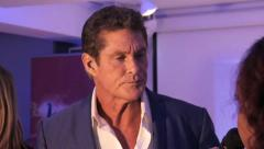 Stock Video Footage of DAVID HASSELHOFF