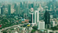 Stock Video Footage of Aerial view - Traffic Bangkok - time-lapse